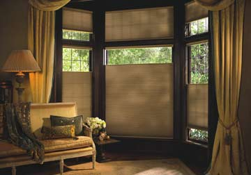 custom window treatments, Hunter Douglas Duette shades in Arlington Heights by Spiritcraft Interior Design in Geneva, WI, Crystal Lake and Barrington, Illinois