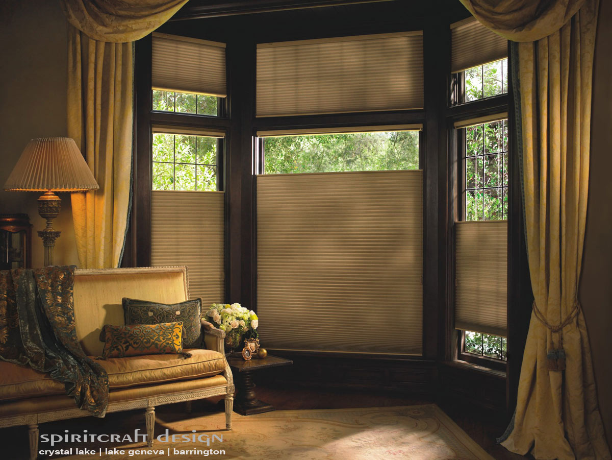 Custom Window Treatments, Hunter Douglas Duette Shades In Arlington Heights  By Spiritcraft Interior Design In