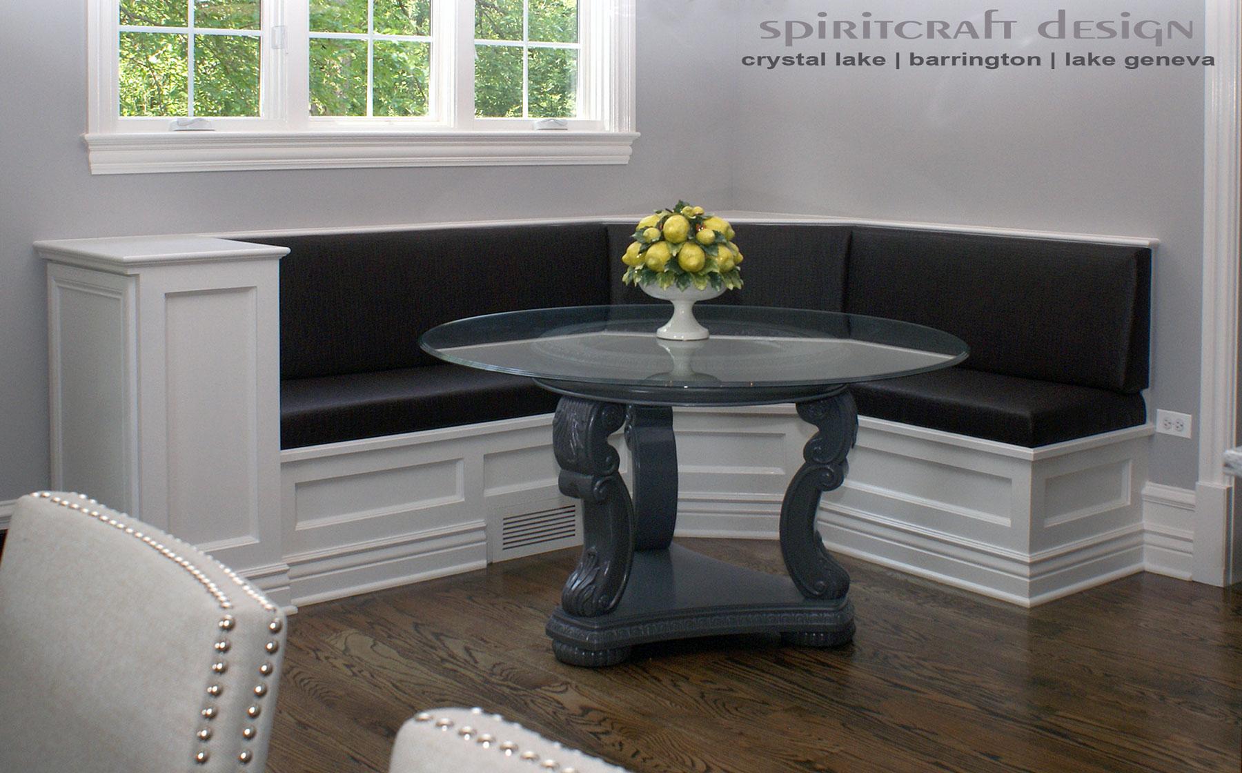 Kitchen banquette furniture. kitchen paint colors with oak ...