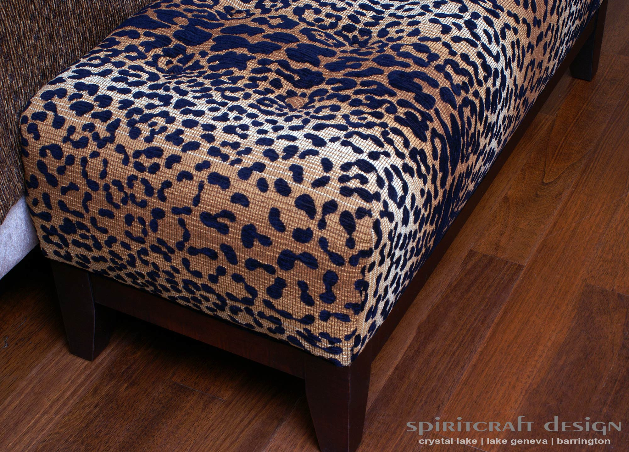 Custom Upholstered Furniture Makers #15: Custom Upholstered Bedroom Bench In Lincoln Park By Spiritcraft Interior Design Of Crystal Lake And Barrington
