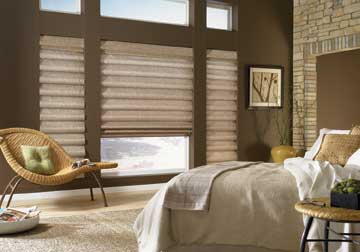 ustom window treatments and roman shades in Northbrook by Spiritcraft Interior Design in Crystal Lake and Barrington, Illinois