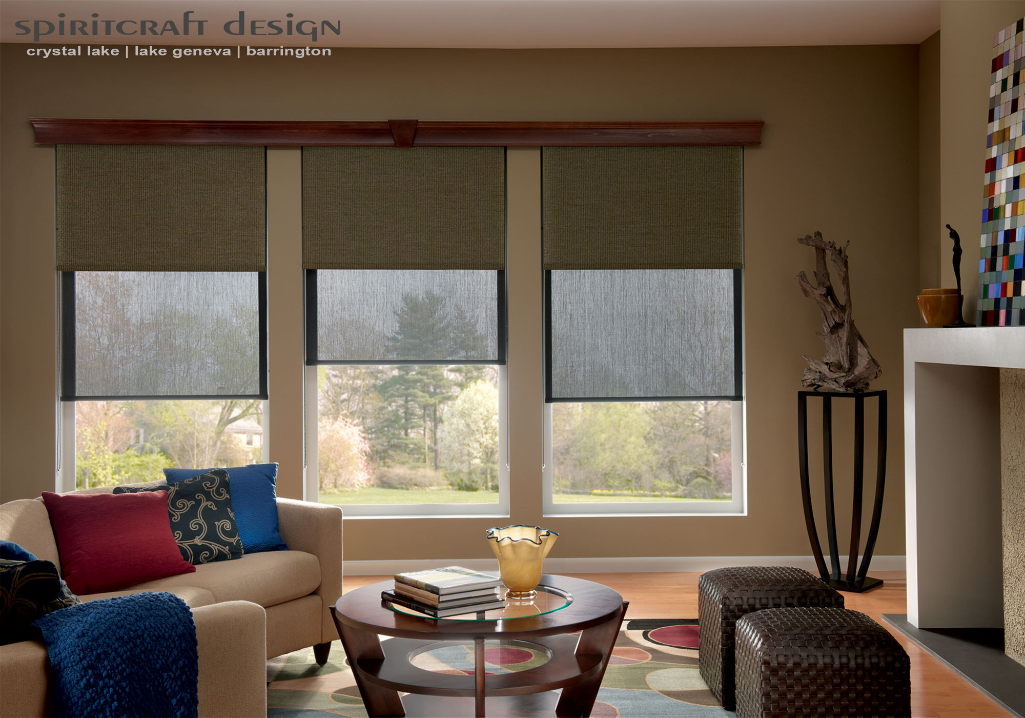 Blinds and shades graber hunter douglas crystal lake for Window shades for home