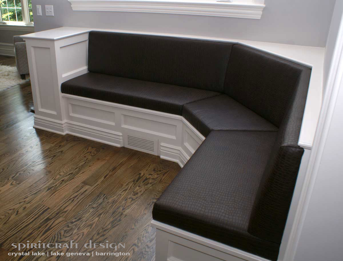 Custom Upholstered Banquettes And Kitchen Booths And Upholstery For Home  Decor In Crystal Lake And Barrington