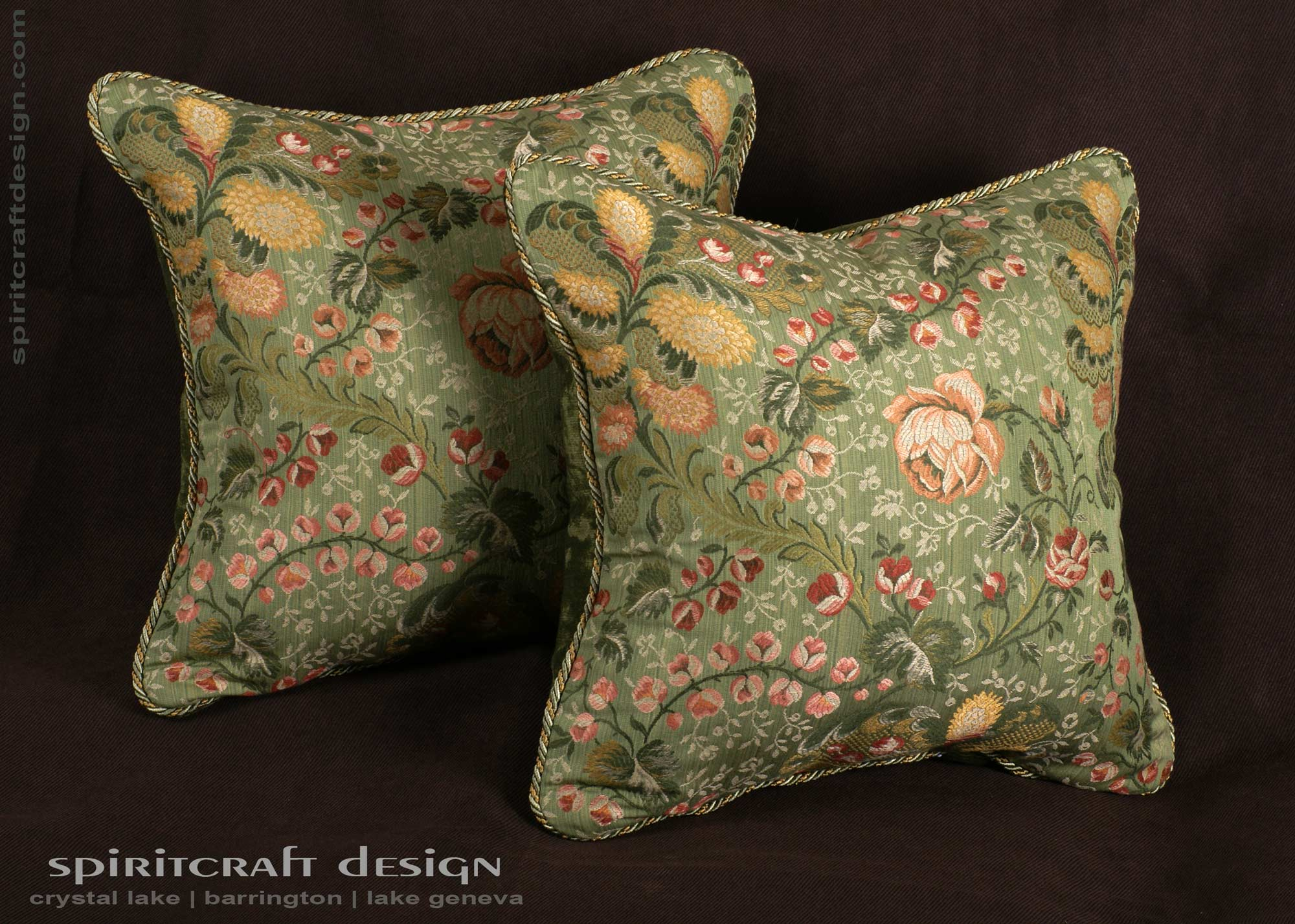 Decorative pillows custom bedding in barrington crystal for Designer accent pillows