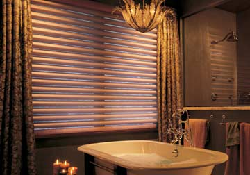 Custom window shades, Pirouette by Hunter Douglas from Spiritcraft Interior Design of Crystal Lake and Barrington, Illinois