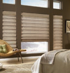 elegant roman shades, custom made window treatments by Spiritcraft Interior Design of Crystal Lake and Barrington, Illinois