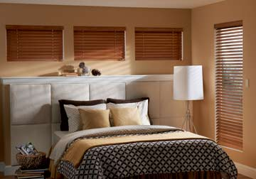 Custom window fashions and wood shades with installation in Arlington Heights by Spiritcraft Interior Design of Crystal Lake and Barrington, Illinois