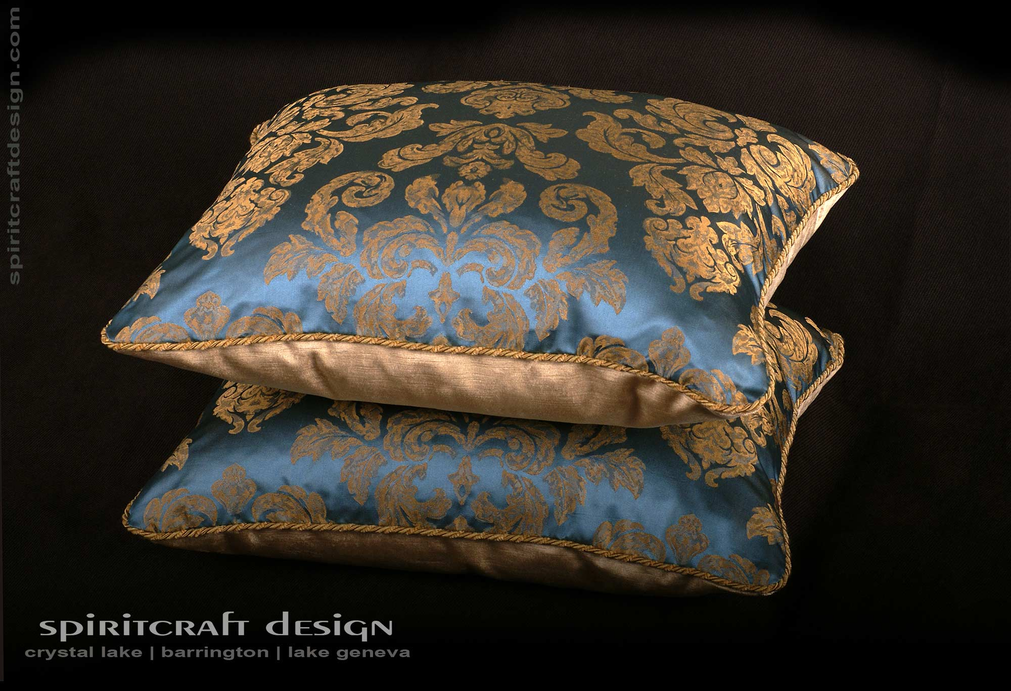 Decorative pillows custom bedding in barrington crystal for Designer throws for sofas