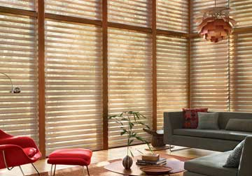 Custom Hunter Douglas shades and blinds for home decor by Spiritcraft Interior Design of Crystal Lake and Barrington, Illinois