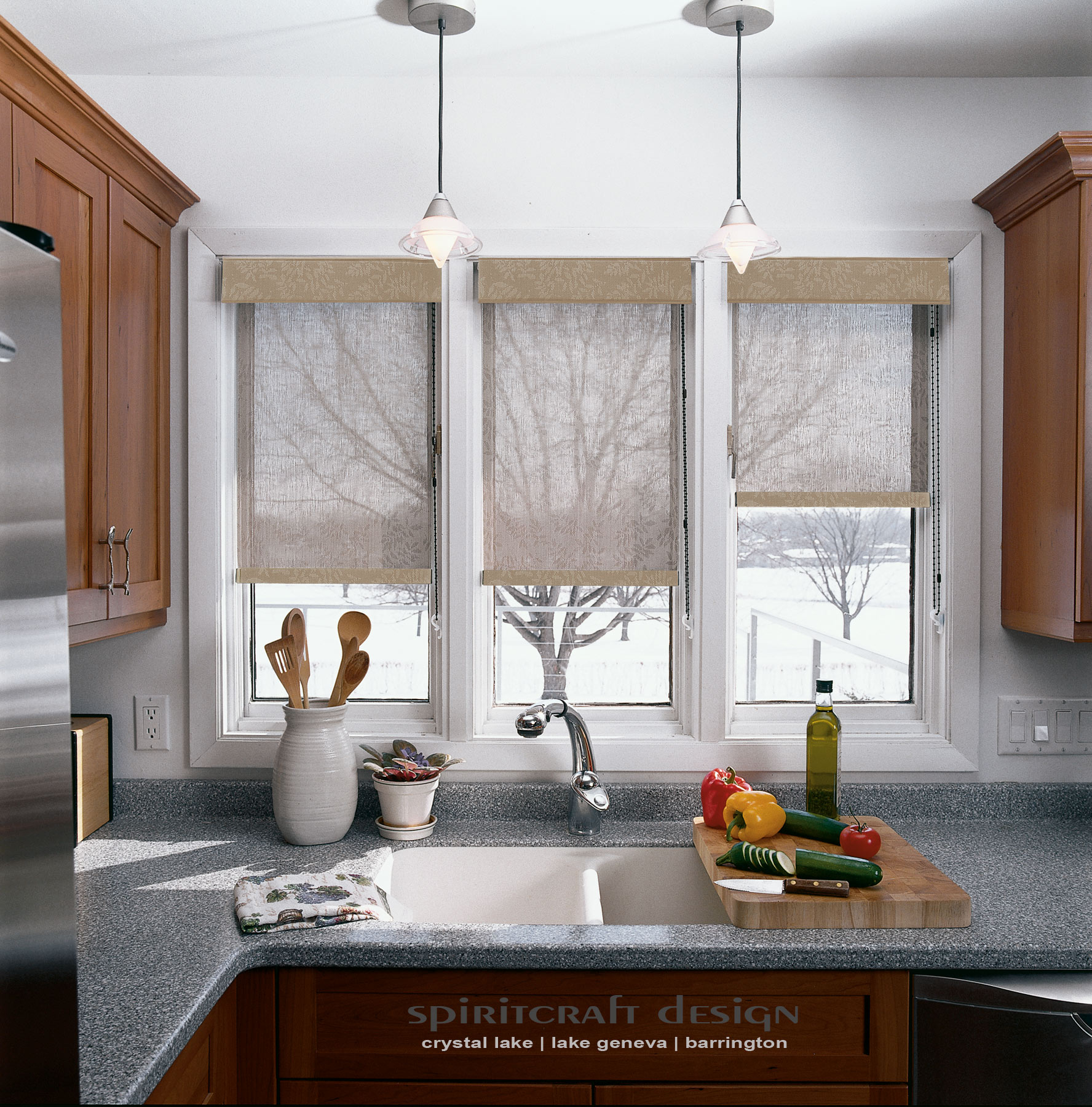 Custom Window Treatments And Kitchen Window Shades By Spiritcraft Interior  Design Of Crystal Lake And Barrington