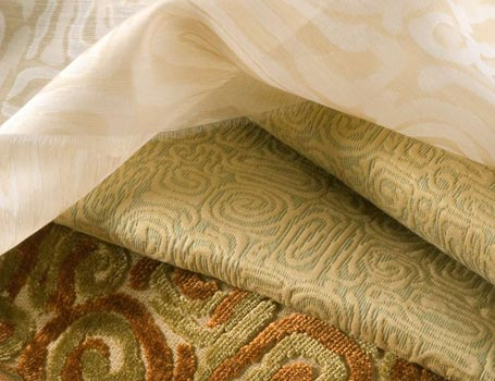 interior designer fabrics and drapery hardware for home decor by Spiritcraft Interior Design in Crystal Lake, Illinois